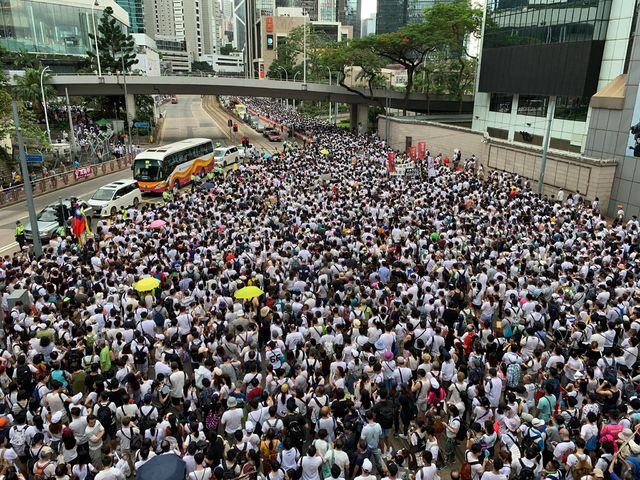 根據主辦單位的估計,參加的遊行的人數達到了驚人的103萬,連一向估計非常保守的警方也公佈有高達24萬人參加。(資料畫面)