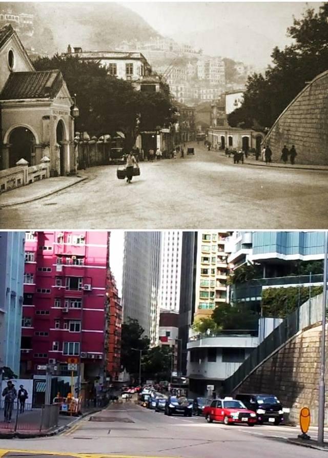 反送中延燒 歌曲「皇后大道東」中國遭下架 | 網友對比過去與現在的皇后大道東。(翻攝自臉書昔日香港)