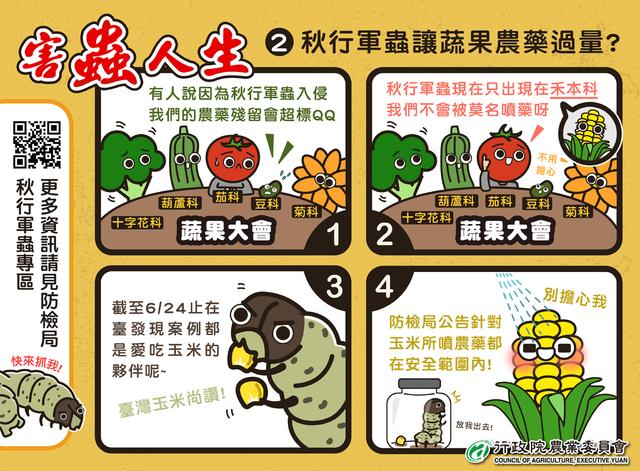 【秋行軍蟲】蟲蟲危機!民眾通報獎金1萬 | (翻攝Facebook粉絲專頁 行政院農業委員會)