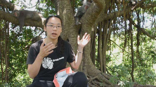 「台灣獼猴共存推廣協會」秘書長林美吟。