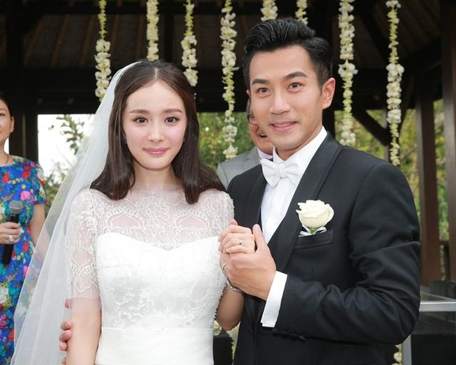 楊冪2014年與香港男星劉愷威結婚,2018年離婚。(翻攝自微博)