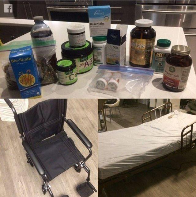 zylTV利用募款來購買輪椅、病床、藥物等用品(圖片翻攝自Twitch)
