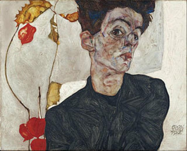 舊貨店買泛黃裸女圖 鑑定後竟值620萬!   席勒是20世紀表現主義畫家。(圖片翻攝自維基百科)