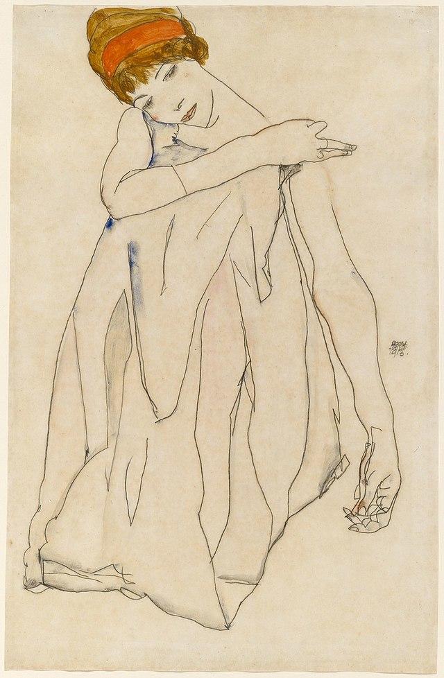 席勒是20世紀表現主義畫家。(圖片翻攝自維基百科)