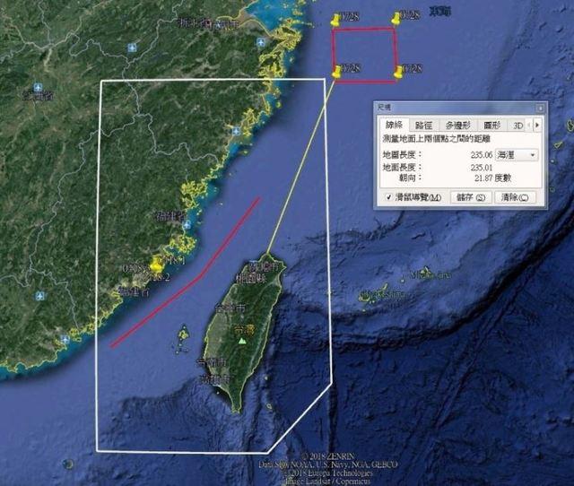 中國軍艦海上演習 最近離金門僅「55公里」   浙江海事局發布「浙航警0623航行警告」。(取自呂禮詩臉書)