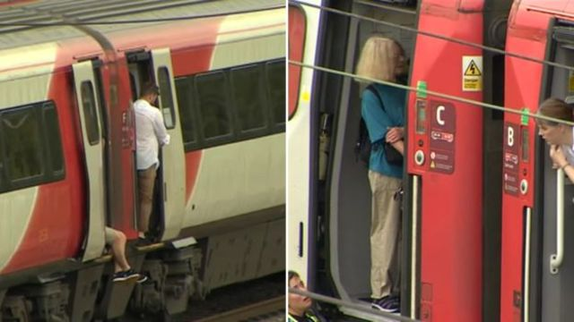 高溫致使劍橋東部鐵路電纜受損。(翻攝自BBC)