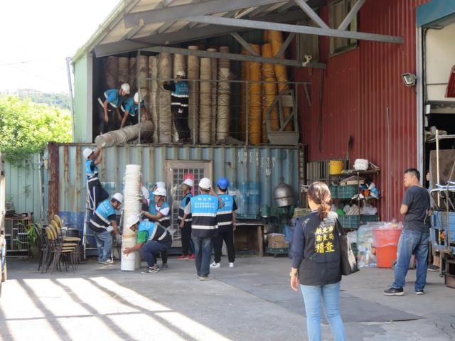 黑心液蛋工廠遭強拆。(新北市府提供)