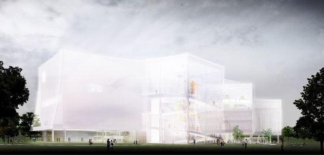 妹島和世.西澤立衛聯手打造 「台中綠美圖」9月開工 | 「台中綠美圖」設計規劃圖。(台中市政府提供)