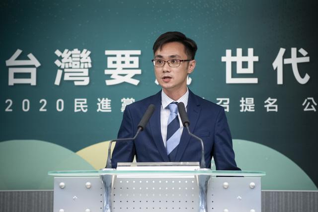 2020立委中永和選區,民進黨派出主席卓榮泰特助蔡沐霖應戰。(民進黨提供)