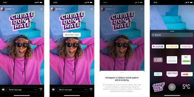 IG推反霸凌新功能 「限制」隔絕霸凌留言 | 十月是美國的「全國防治霸凌月」,Instagram將在限時動態中發佈全球反霸凌標籤。(翻攝自Instagram)