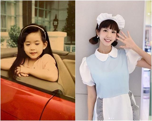 何紫妍曝光童年時期的可愛照片