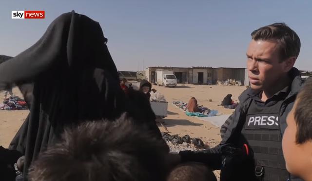 IS婦女稱「巴格達迪死了,還會有下一個,一個接著一個。」(翻攝Sky News YouTube)