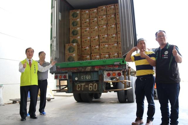 台灣農產外銷再突破!高麗菜進軍越南市場   甘藍南向越南封櫃記者會。(農糧署提供)
