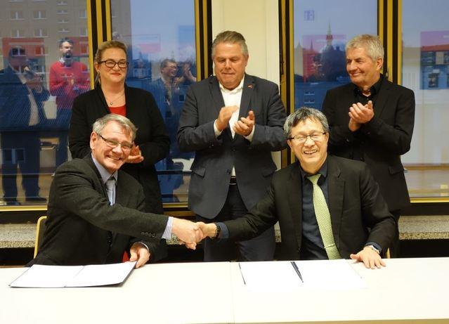 台德正式簽署「轉型正義共同合作意向書」。(駐德國台北代表處提供)