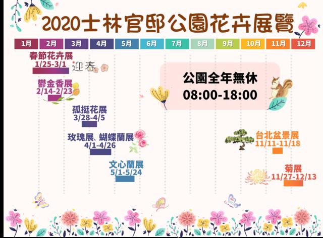 2020花展時間。(北市公園處提供)