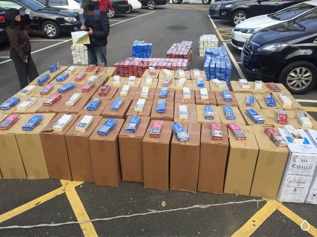 海巡板橋查獲大量私菸 過期菸企圖換裝轉賣   海巡查獲大量私菸。(偵防分署提供)