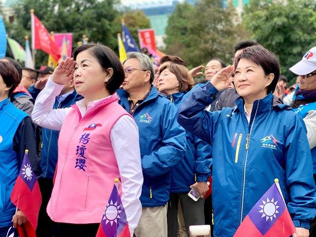 立委》贏洪慈庸 國民黨楊瓊瓔自行宣布當選   楊瓊瓔(左,翻攝臉書)