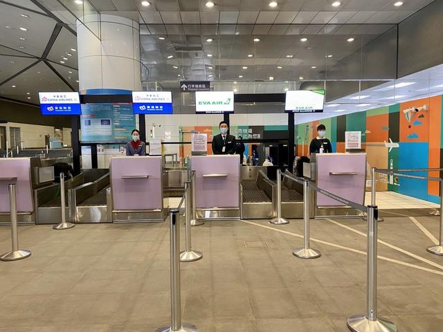 現階段提供A3站預辦登機服務共有中華航空、長榮航空、華信航空及立榮航空4家航空公司。(桃機提供)