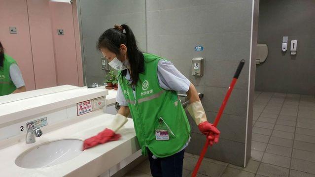 捷運站內全面落實消毒與清潔