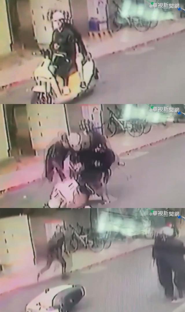 蔡阿嘎及妻子二伯騎車遭陳男持鐵鎚攻擊(資料照)
