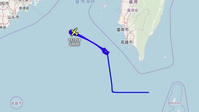 美偵察機繞台灣外海 國防部:適切掌握,妥慎因應   (翻攝推特Aircraft Spots)