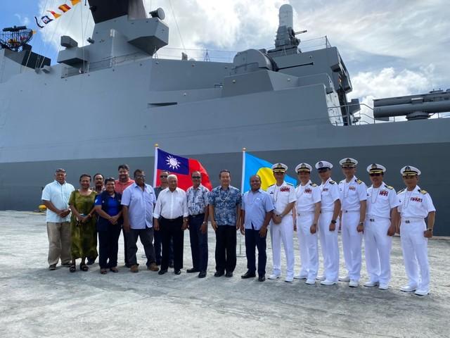 我國海軍敦睦艦隊3月中短暫停靠帛琉。(臉書/中華民國駐帛琉大使館)
