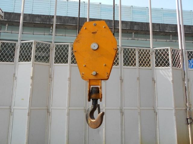 吊鉤具有防物體脫落的防滑舌片。(新北市勞檢處提供)