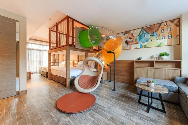 瑞穗天合國際觀光酒店的親子溫馨家庭房。