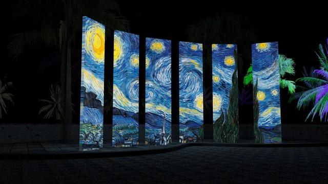 全台最大望遠鏡在這! 花蓮「太平洋靚彩節」只有30天 | 梵谷《星夜》。(取自太平洋靚彩節活動官網)