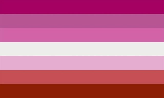 女同性戀驕傲旗。