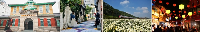 由左至右,雲林虎尾商圈、台中東海藝術街商圈、苗栗銅鑼商圈、台北迪化商圈。(翻攝自活動官網)