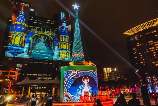 2020耶誕城推出迪士尼系列光雕。(新北市政府提供)