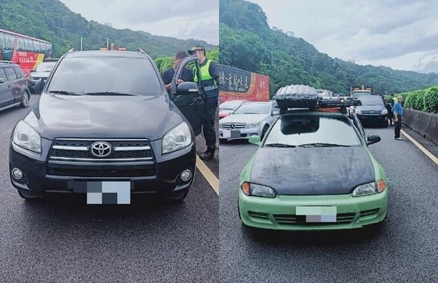 2駕駛因變換車道遭鳴按喇叭釀事故,憤而互毆受傷。(警方提供)