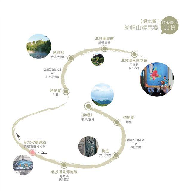 饌之賞燒尾宴旅遊地圖/翻攝自台北市產業發展局