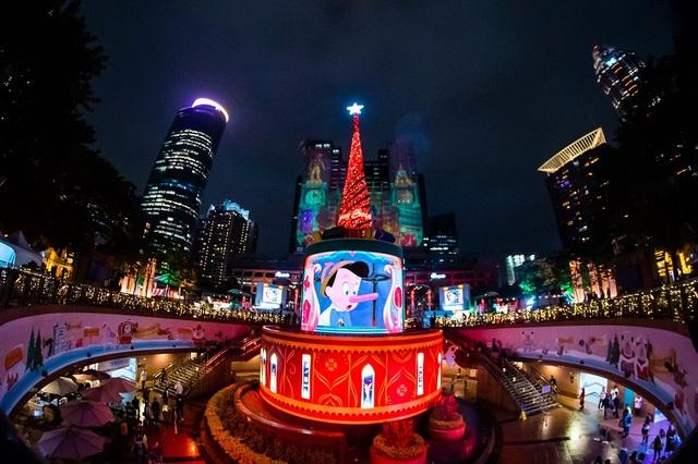 迪士尼合作3D光雕雷射投影/翻攝自新北耶誕城官方網站
