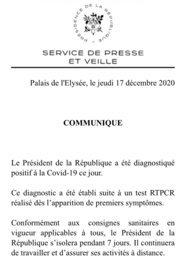 又一元首確診! 法國總統馬克宏染疫將隔離遠距辦公  