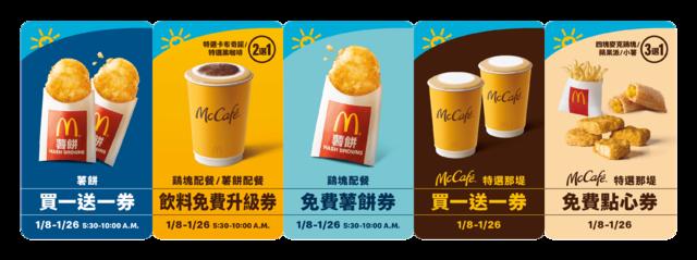 麥當勞「早安優惠券」(業者提供)