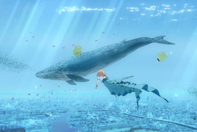來自台灣的動畫師們,絕美打造出片中關鍵的魚群跳躍,以及女主角跟魚群游泳的場景。(采昌國際多媒體提供)