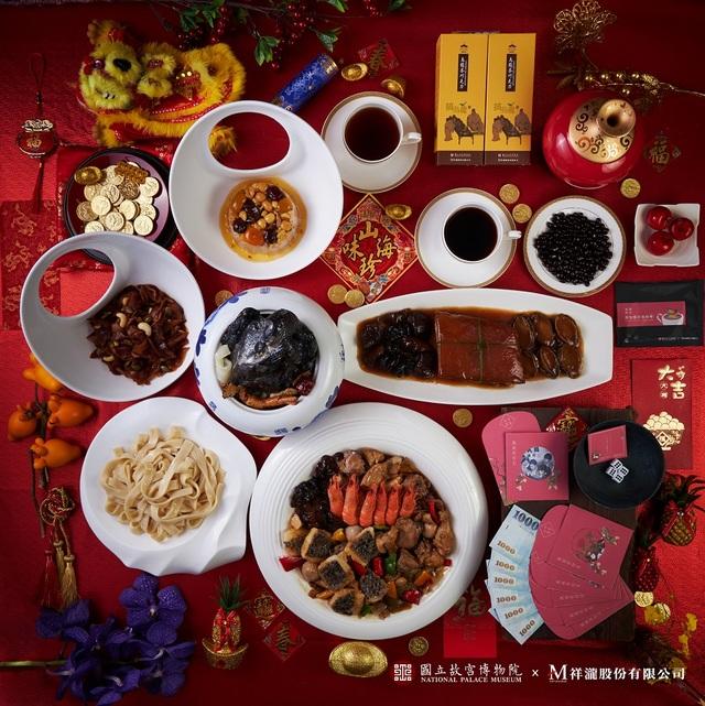PChome 24h購物與故宮合作推出年菜。(業者提供)