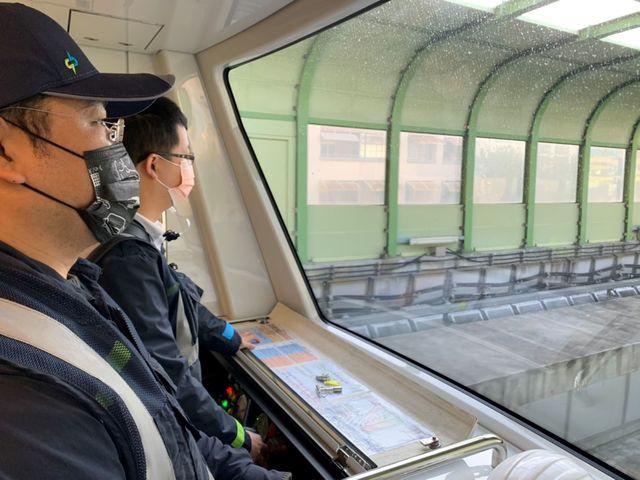 綠線列車上線測試。(中捷提供)