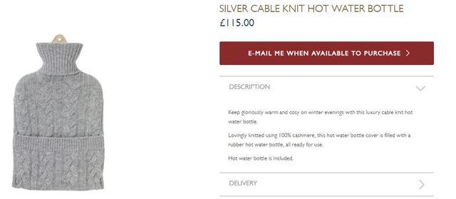 保溫杯開價4400元 翻攝自英國皇家收藏基金會網站