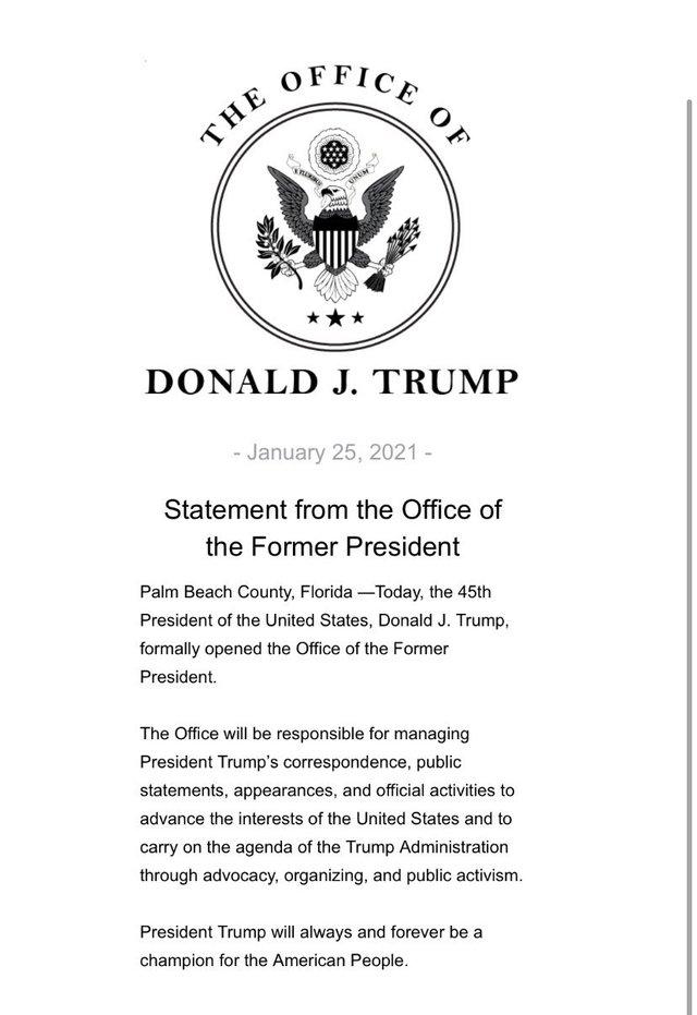 前總統辦公室聲明稿(翻攝自BBC記者@LarryMadowo twitter)