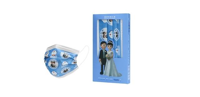 哆啦A夢聯名系列口罩「我們結婚了款」