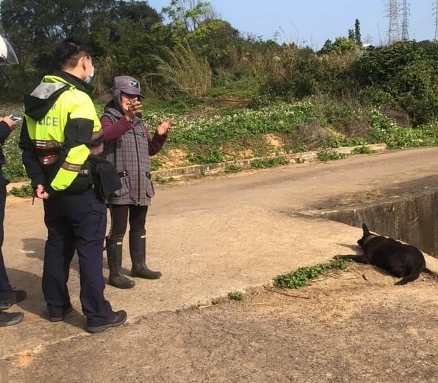 警方也有到現場處理。(邵柏虎提供)