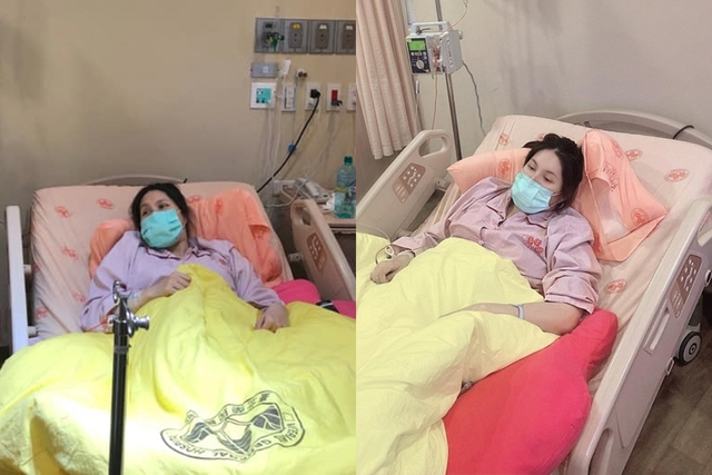 余苑綺2019年癌症化療(資料照/翻攝臉書余苑綺 Chichi)