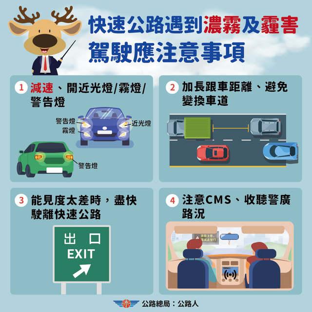 公路總局提醒注意事項。(翻攝自臉書公路總局:公路人)