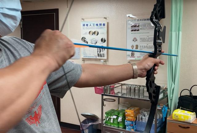 網購弓箭組(南投醫院提供)