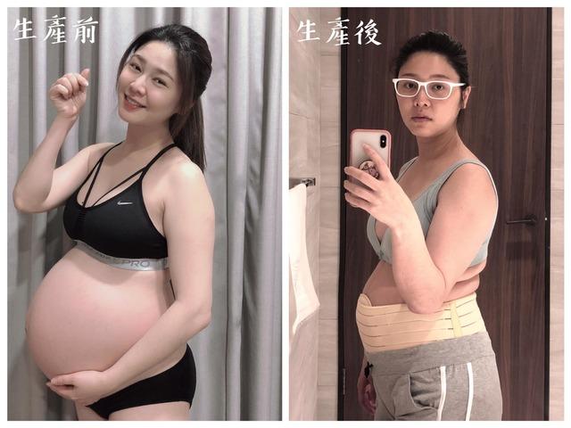 白家綺產前產後照(翻攝自白家綺臉書)