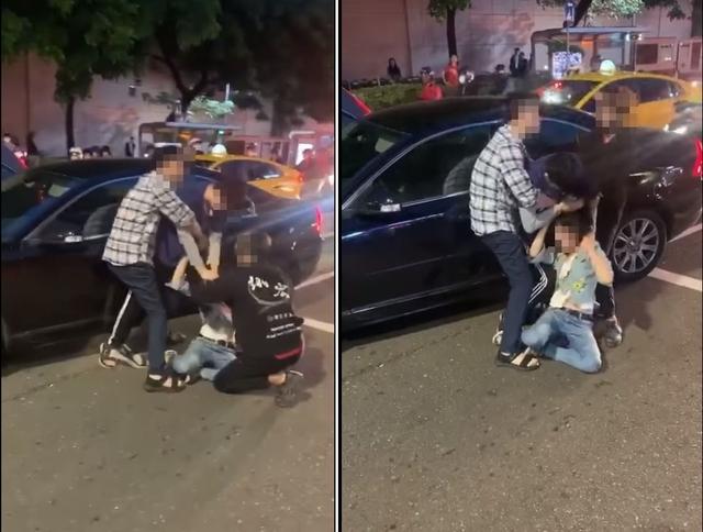 目擊民眾貼出爭執現場影片。(翻攝自臉書社團「爆廢1公社」)