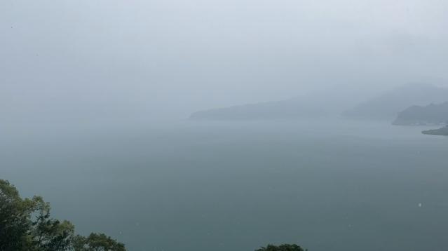 南投日月潭又下大雨! 時雨量最高19.5毫米 | 南投日月潭下大雨了!